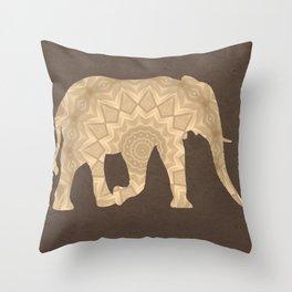 Bohemian Elephant BoHo Hipster Gypsy Mandala A395 Throw Pillow