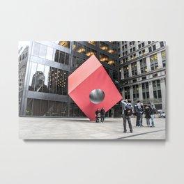 ArtWork New York City Black and Colour Metal Print