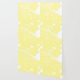 Amsterdam Yellow on White Street Map Wallpaper
