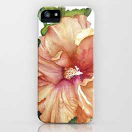 vibrant hibiscus iPhone Case