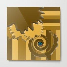 Shades of Brown Metal Print