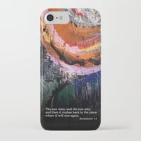 bible verse iPhone & iPod Cases featuring Painting with Bible Verse by Creative Divvy