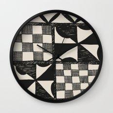 Tapa Cloth   Pacifica Patterns   Tribal Art Wall Clock