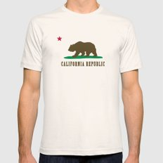 California Republic Mens Fitted Tee Natural LARGE