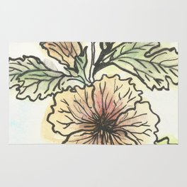 Tropical Hibiscus Rug
