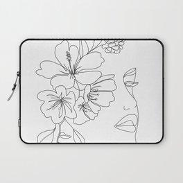 Minimal Line Art Woman Face II Laptop Sleeve