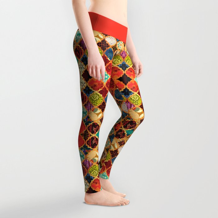 -A32- Epic Colored Traditional Moroccan Artwork. Leggings