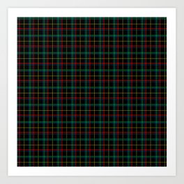 Red and green plaid Art Print