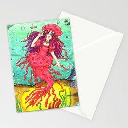 Jellyfish Mermaid Stationery Cards