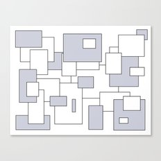 Squares - gray and white. Canvas Print