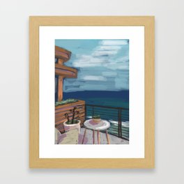 Little Beach House Framed Art Print