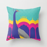 india Throw Pillows featuring India by Kapil Bhagat