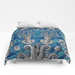 The Kraken (Blue - No Text) Comforters