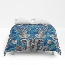 The Kraken (Blue - No Text) Comforters