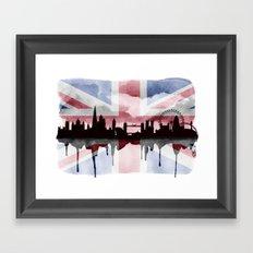 Great British Flag London Skyline 2 Framed Art Print