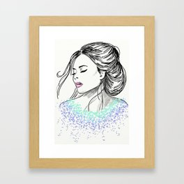 Blasé in Drops of Watercolour Framed Art Print