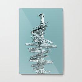 Graphic Art SIGNPOST | turquoise Metal Print