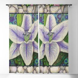 Stargazer Lily in the Lilac Verse Blackout Curtain