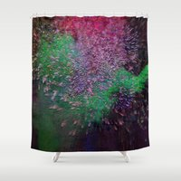 firefly Shower Curtains featuring Firefly by Joseph Mosley