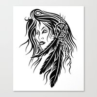 native american Canvas Prints featuring Native American by JonathanStephenHarris