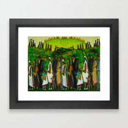 African American Masterpiece 'Funeral Procession' by Ellis Wilson Framed Art Print