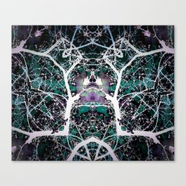 Antlers (Green) Canvas Print