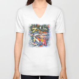 Koi Carp Splash Unisex V-Neck
