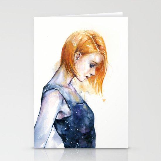 heliotropic girl  Stationery Cards