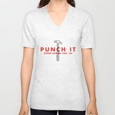 Punch it - Zombie Survival Tools Unisex V-Neck