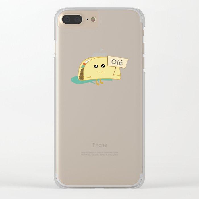 Happy Taco, Olé Clear iPhone Case