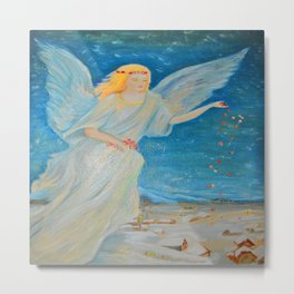 Bless me | Guardian Angels are Here | Angel of Abundance | Love Metal Print