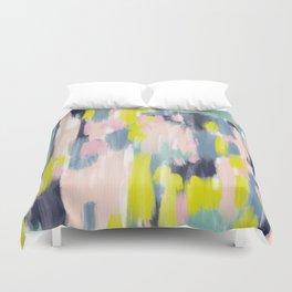 Abstract Brush Stroke Art in Modern Color Palette Duvet Cover