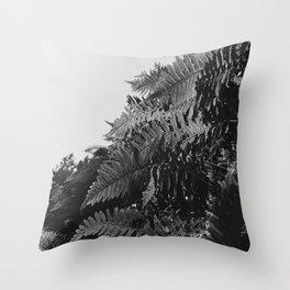 Colorless Ferns Throw Pillow