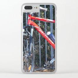 red bike Clear iPhone Case