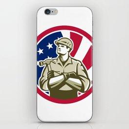 American Carpenter USA Flag Icon iPhone Skin