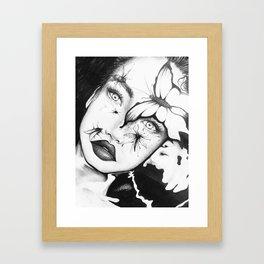 Moths To The Flame Framed Art Print