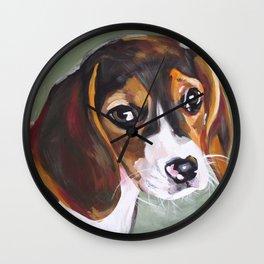Beagle Pet Art Wall Clock