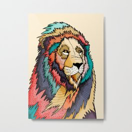 The regal lion Metal Print