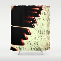 piano Shower Curtains featuring piano by Falko Follert Art-FF77