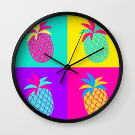 Neon Summer 3 Wall Clock