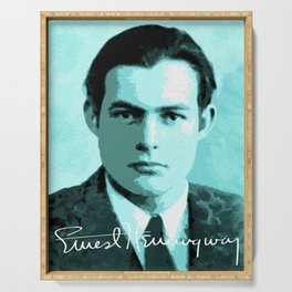 Young Ernest Hemingway Serving Tray