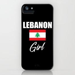 Lebanon Girl iPhone Case