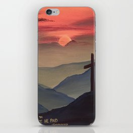 Sunset Cross Landscape iPhone Skin