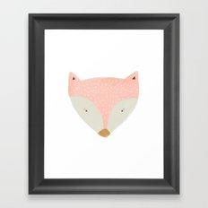pink fox Framed Art Print
