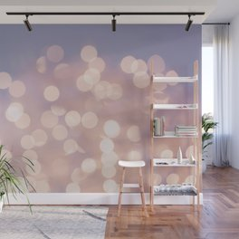 Light Pink Blurry Lights (Color) Wall Mural
