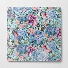 Succulents - For the Memory of a Never-ending Love Metal Print
