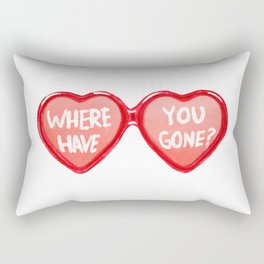 Where have you gone? Heart Glasses Rectangular Pillow