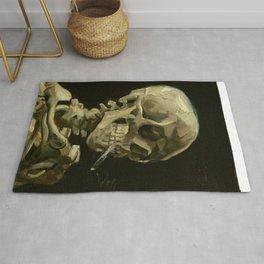 Skull Of A Skeleton With A Burning Cigarette - Vincent Van Gogh Rug