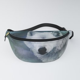 White Wolf Winter Fanny Pack