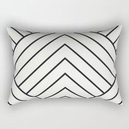 Diamond Series Pyramid Charcoal on White Rectangular Pillow